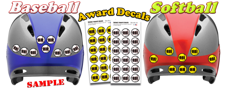 Helmet award decals