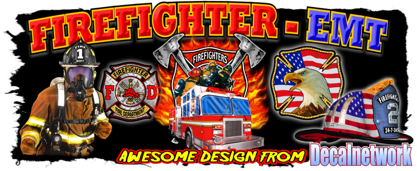Firefighter Fire House Decals Tee Shirts Signs