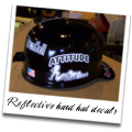 Reflective hard hat decals