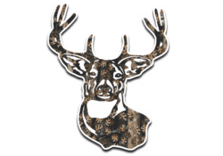 Camo Deer Head Decal