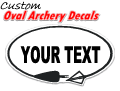 Custom Oval Archery Decal