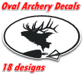 Euro Oval Archery decals